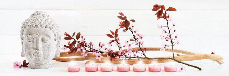 Eurographics LED-Bild »Candles Zen«, 105/35 cm in weiß/rosa