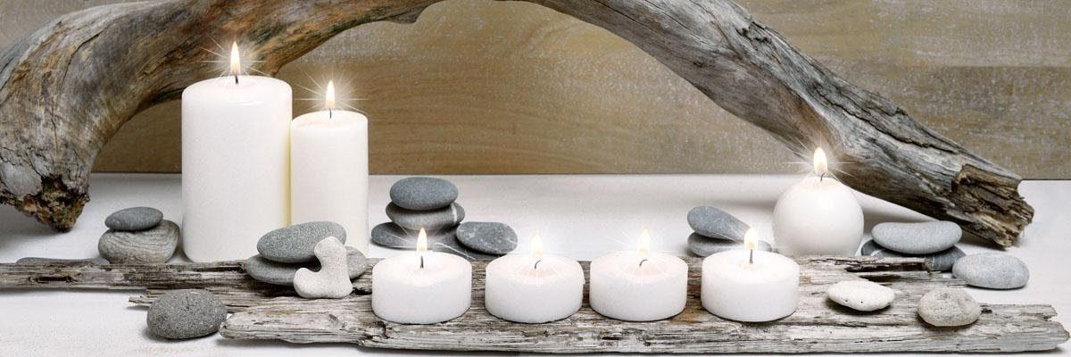 Eurographics LED-Bild »Candle Wood«, 105/35 cm