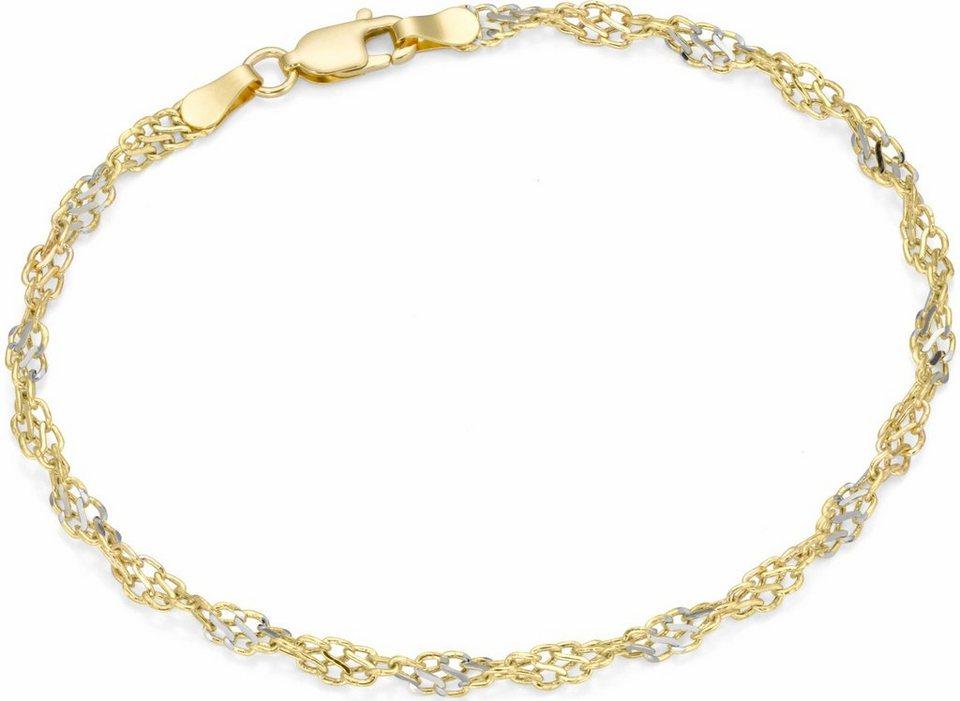 Firetti Armband in Gelbgold 375-silberfarben
