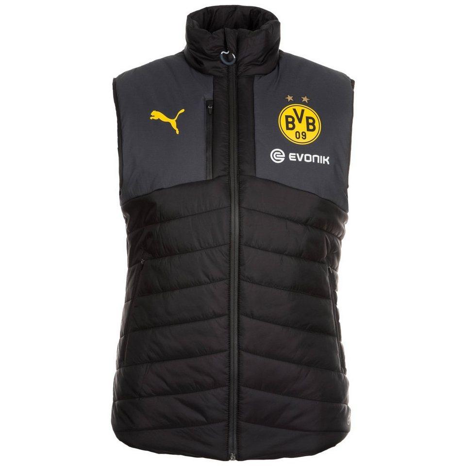 PUMA Borussia Dortmund Padded Weste Herren in schwarz / gelb