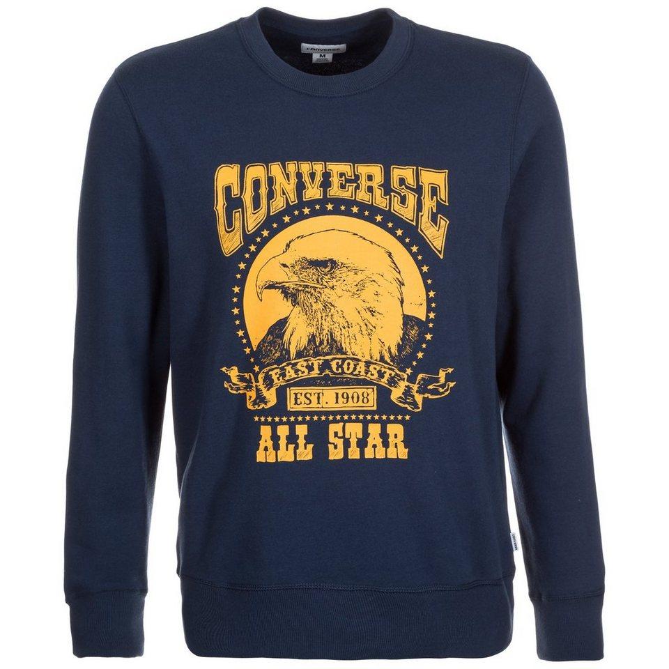 CONVERSE Heritage Graphic Crew Sweatshirt Herren in dunkelblau / gelb
