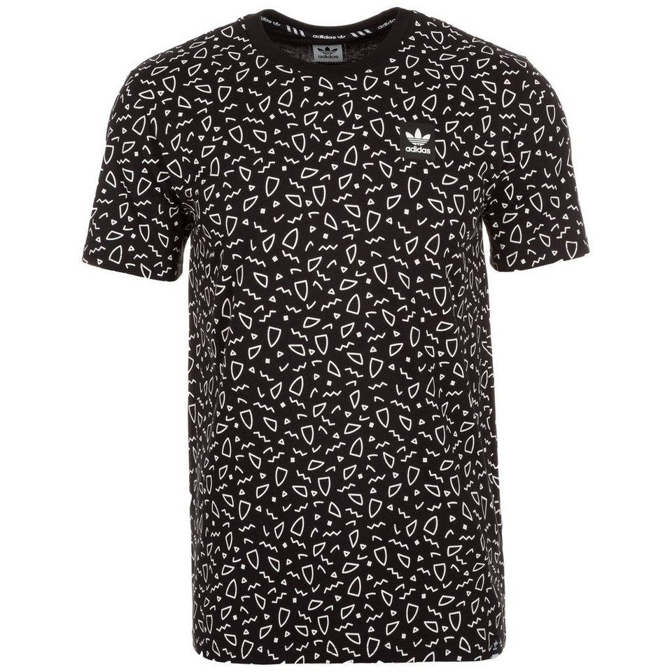 adidas Originals Scatter T-Shirt Herren in schwarz / weiß