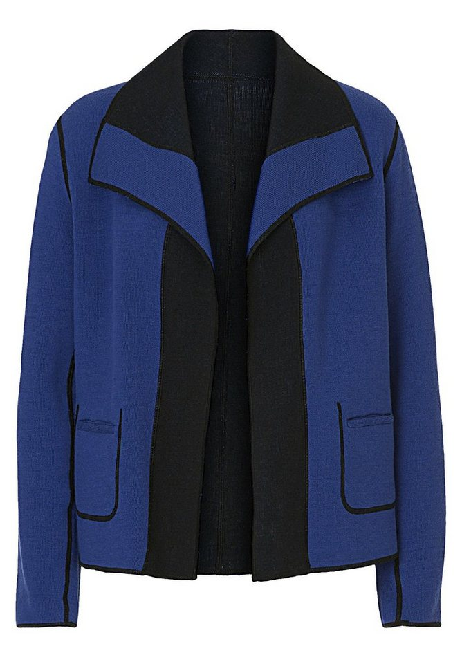 Betty Barclay Strickjacke in Blue/Black - Blau