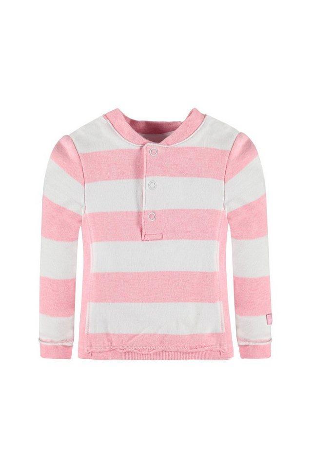 BELLYBUTTON Baby Sweatshirt mit breiten Streifen in prism pink melange
