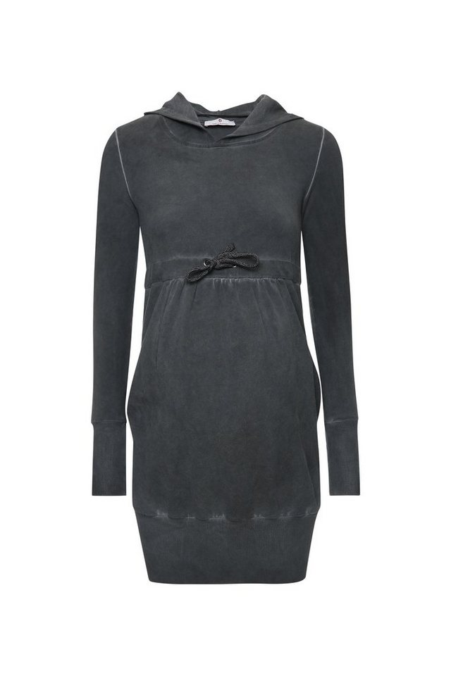BELLYBUTTON Sweatkleid für Schwangere, mit Kapuze in dark grey melange