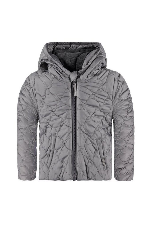 BELLYBUTTON Baby Outdoor-Jacke mit Kapuze, gesteppt in frost grey