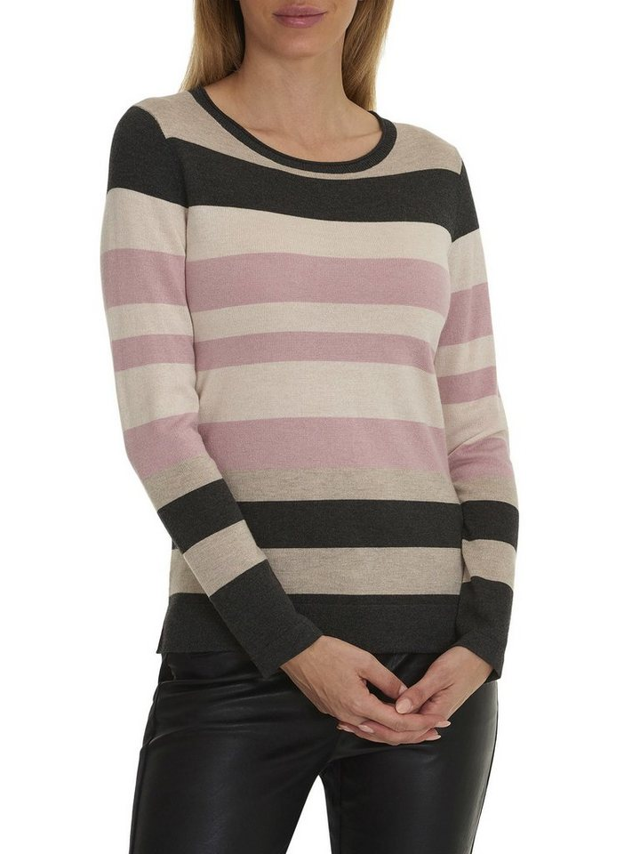 Betty Barclay Strickpullover in Taupe/Rosa - Bunt
