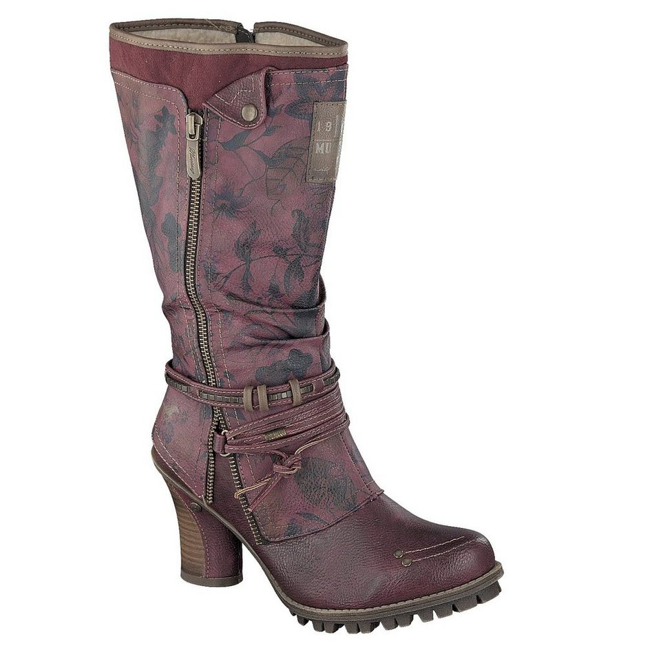 MUSTANG SHOES Stiefel in bordeaux