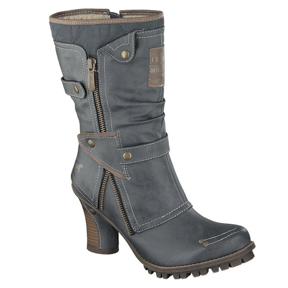 MUSTANG SHOES Stiefelette in nachtblau