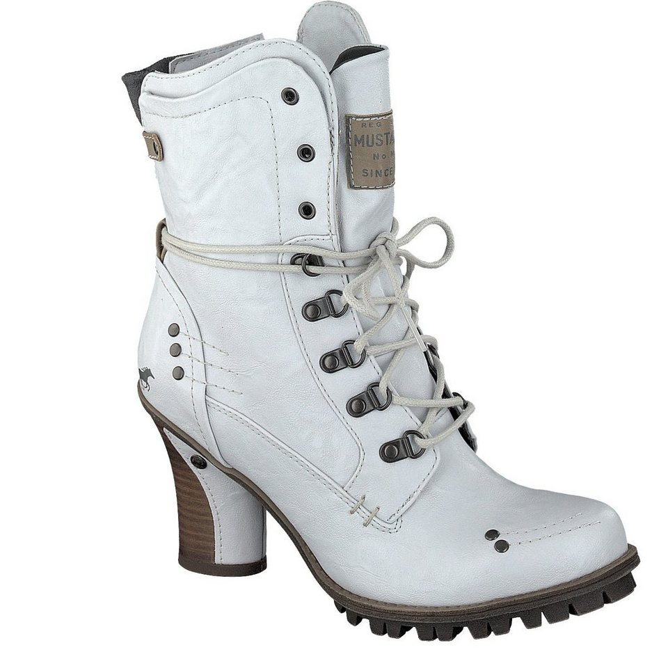 MUSTANG SHOES Schnür-Stiefelette in off-white
