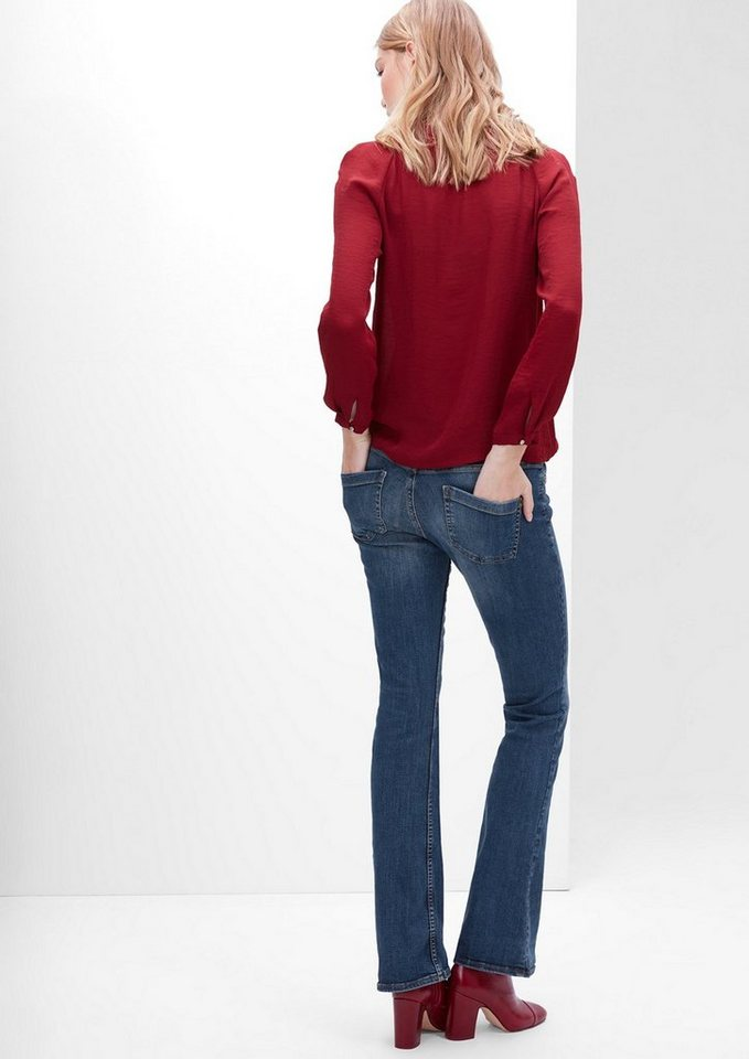 s.Oliver RED LABEL Shape Bootcut: Stretch-Jeans in blue denim stretch