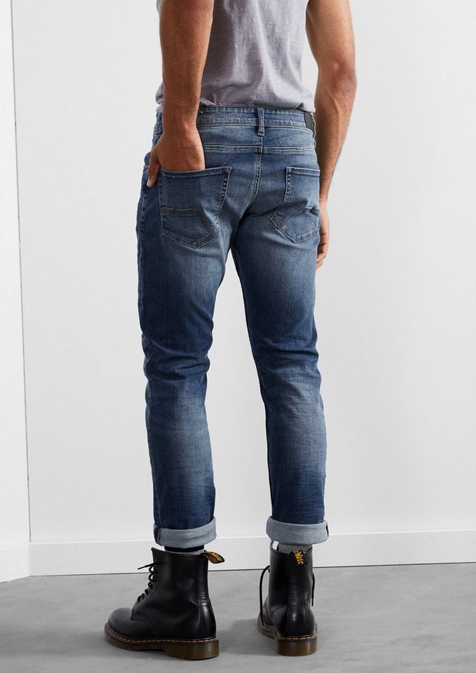 Q/S designed by Pete Straight: Stretchige Bluejeans in denim