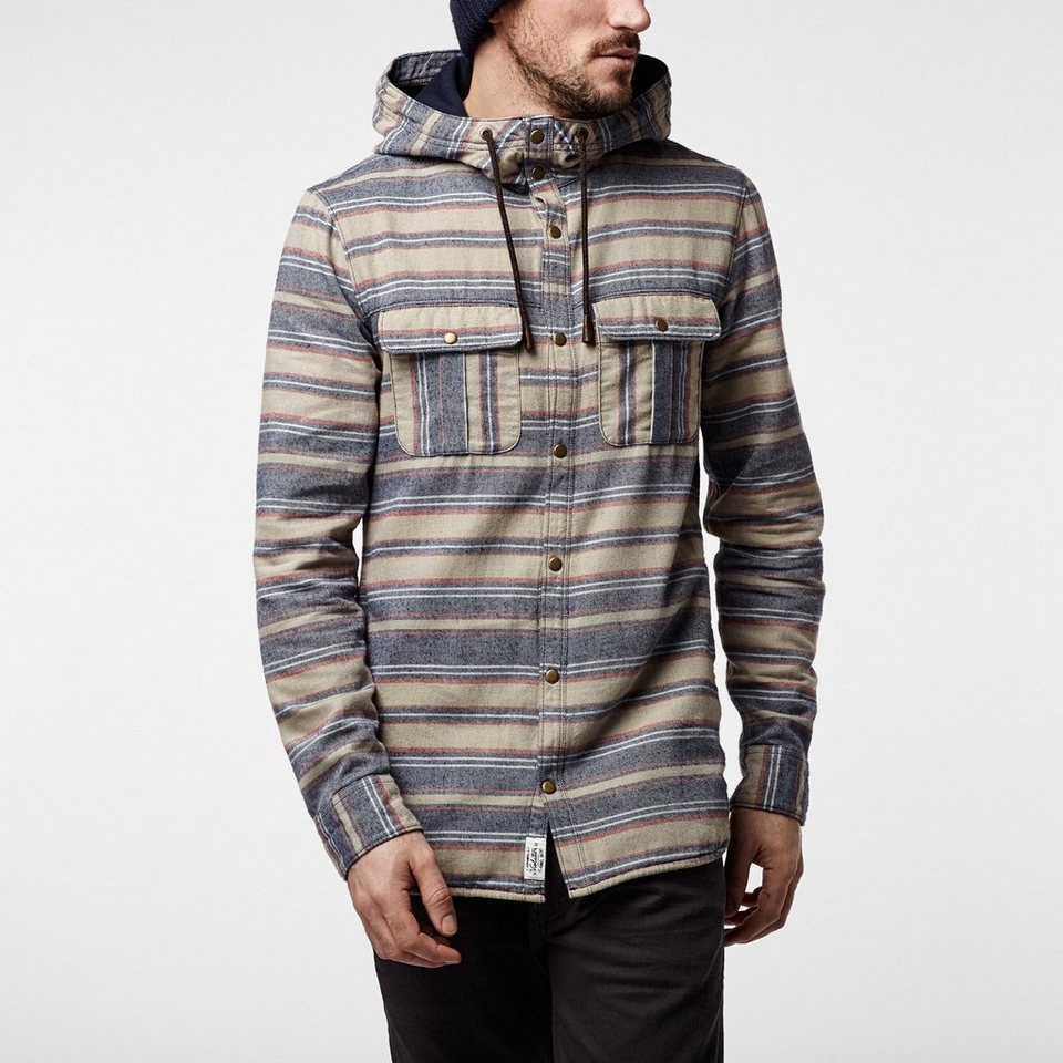 O'Neill Hemd langärmlig »Violator Hooded Flannel« in Blau gemustert