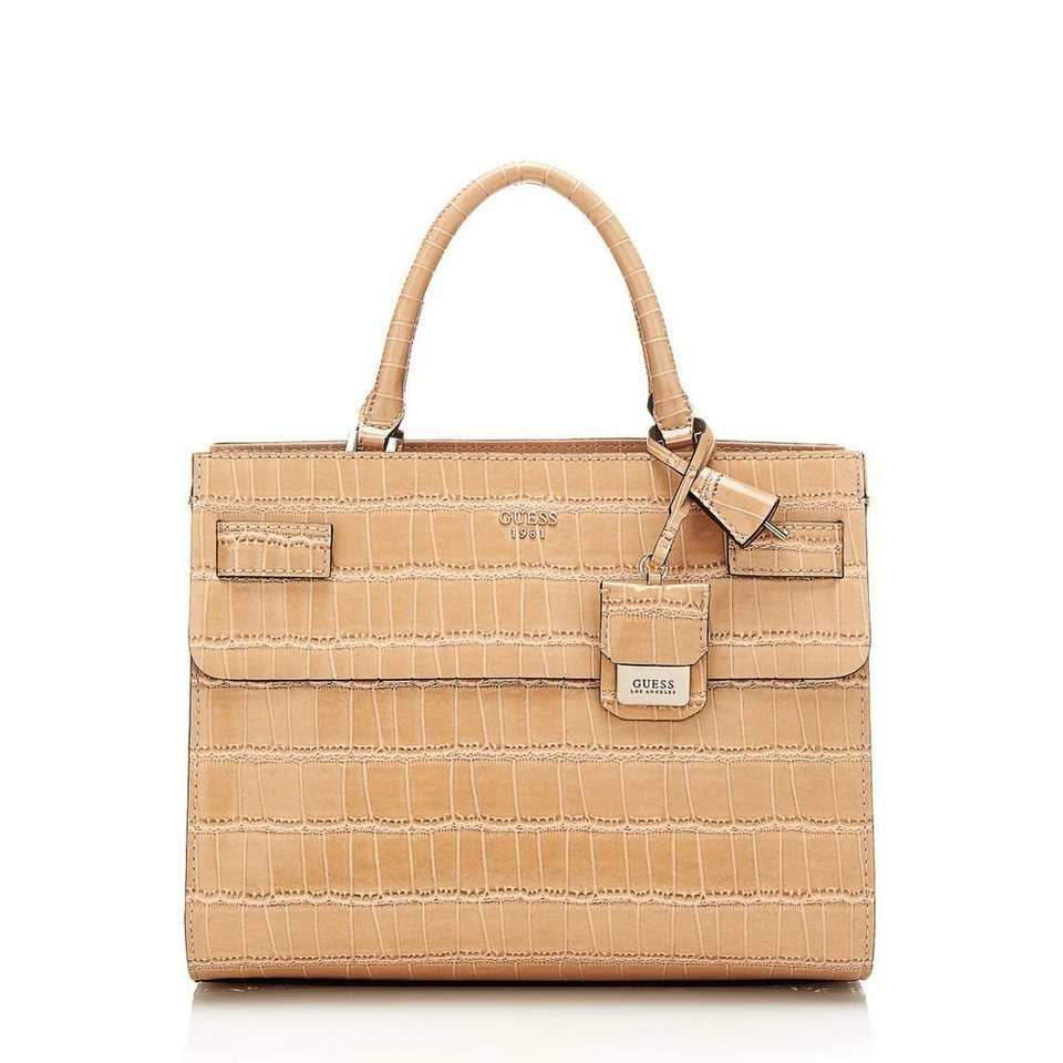 Guess HENKELTASCHE CATE KROKO-OPTIK in Beige
