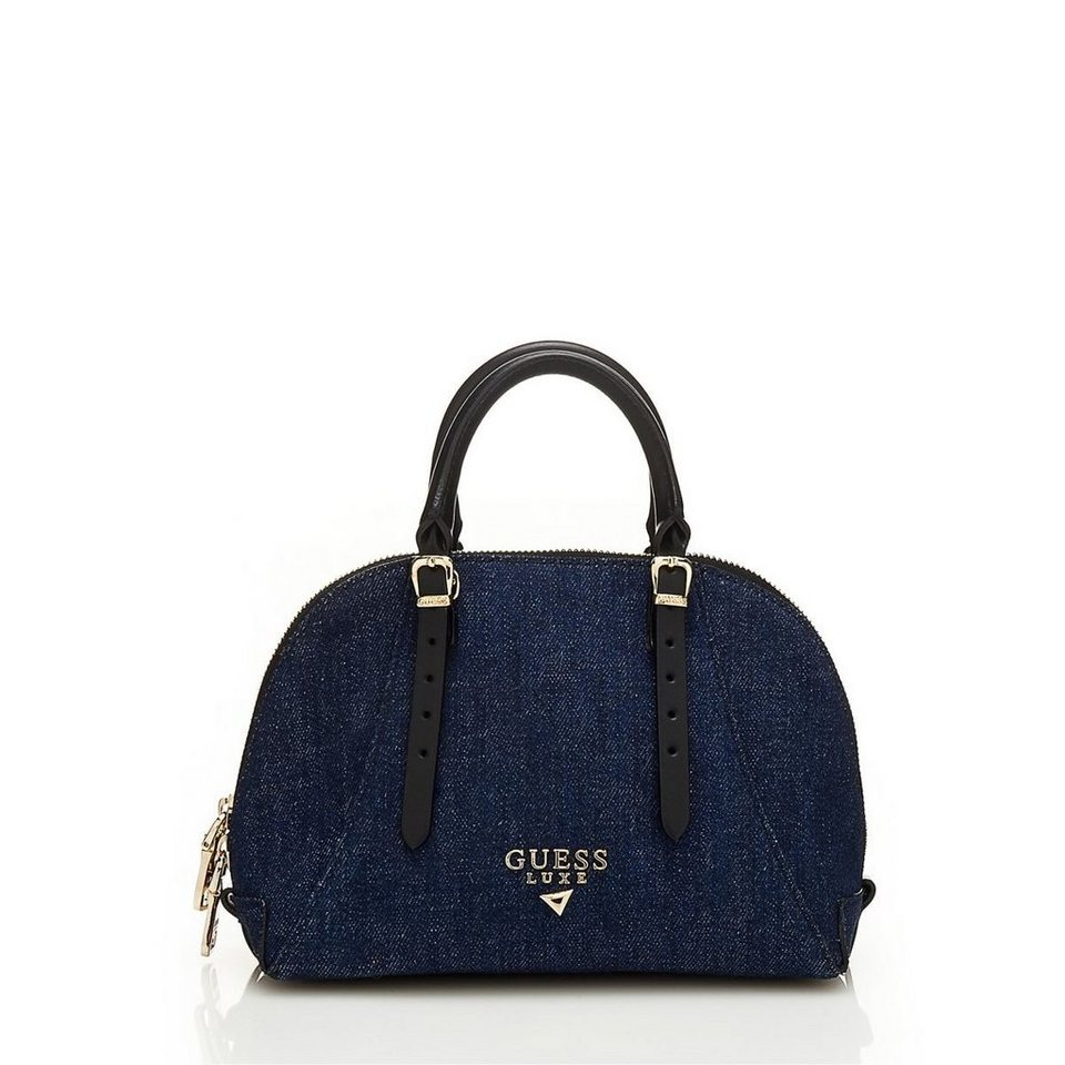 Guess MINI-BAULETTO LADY LUXE AUS LEDER in Himmelblau