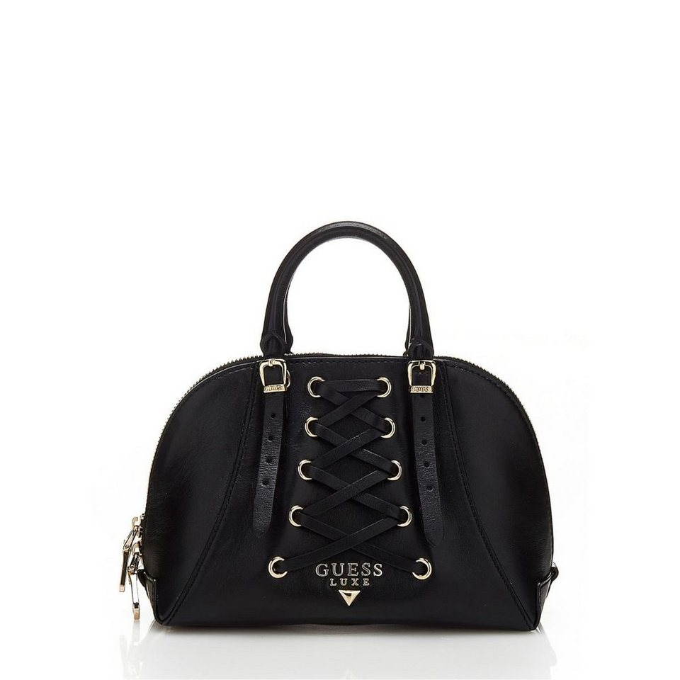 Guess MINI-BAULETTO LADY LUXE AUS LEDER in Schwarz