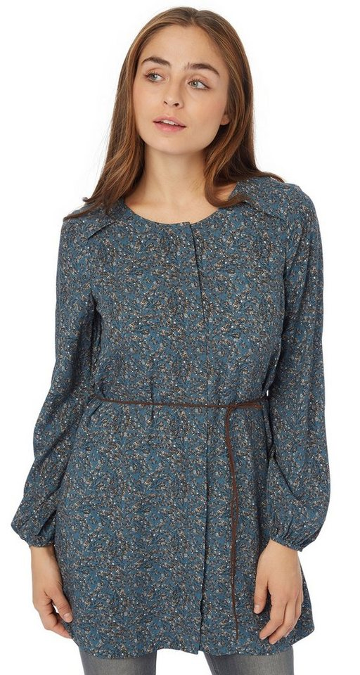 TOM TAILOR Bluse »feminine long blouse« in Tide petrol
