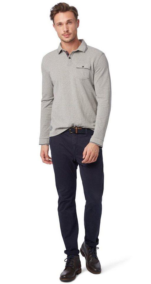 TOM TAILOR Hose »Chino mit Gürtel« in knitted navy
