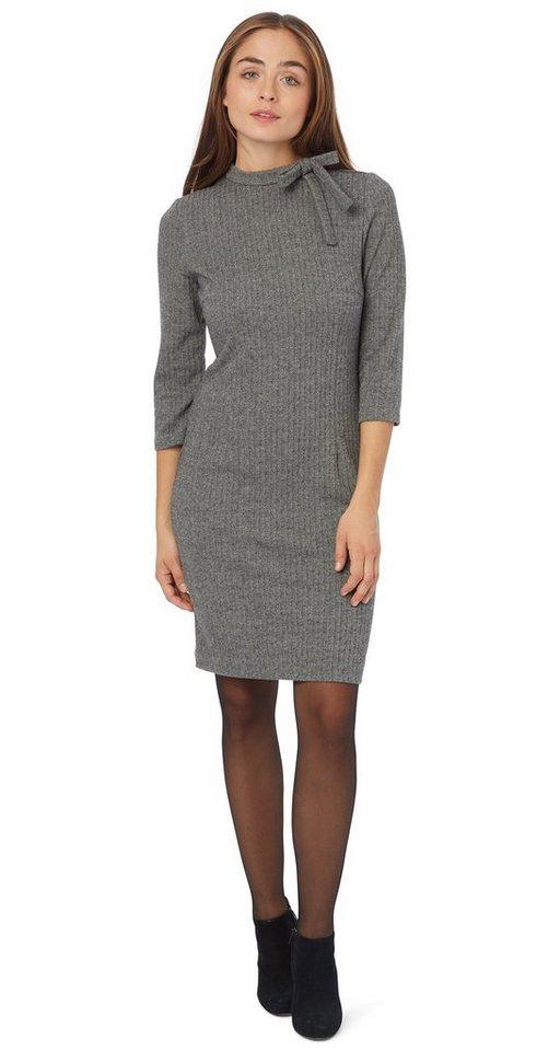 TOM TAILOR Kleid »elegantes Kleid mit Schleife« in smoked pearl grey