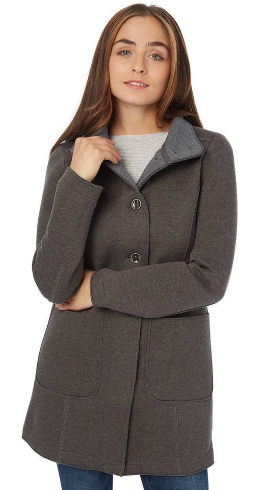 TOM TAILOR Jacke »Mantel mit Wollanteil« in Smokey Olive
