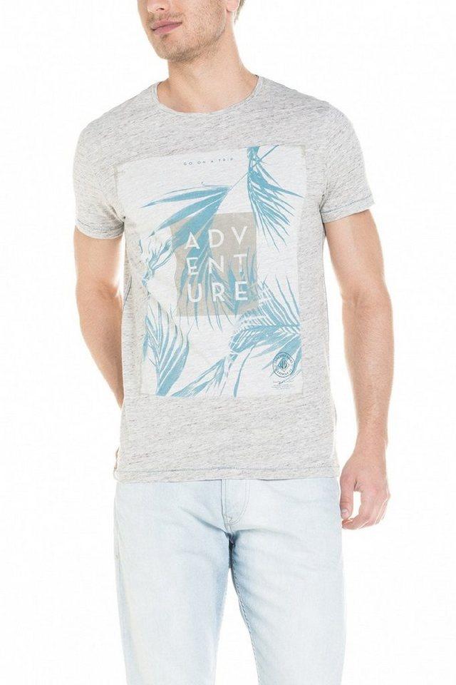 salsa jeans T-Shirt, kurzarm »PALM BEACH« in Nature