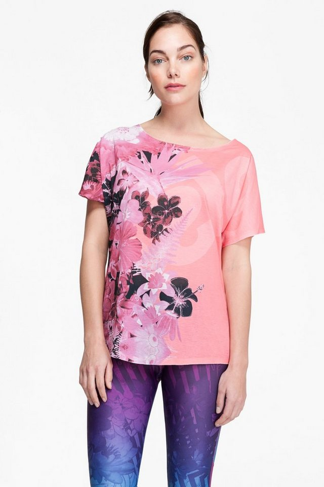 Desigual T-Shirt »TS L T S OVERSIZE A« in rot