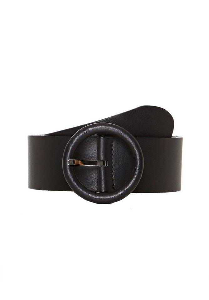 HALLHUBER Gürtel mit runder Lederschließe in schwarz
