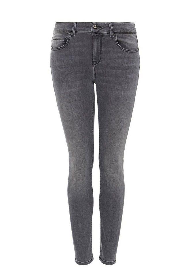 HALLHUBER Skinny-Jeans in dark grey denim
