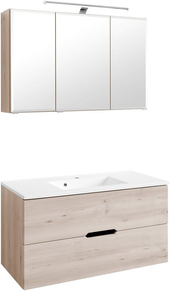 Waschplatz-Set »Belluno«, Breite 100 cm in buchefarben