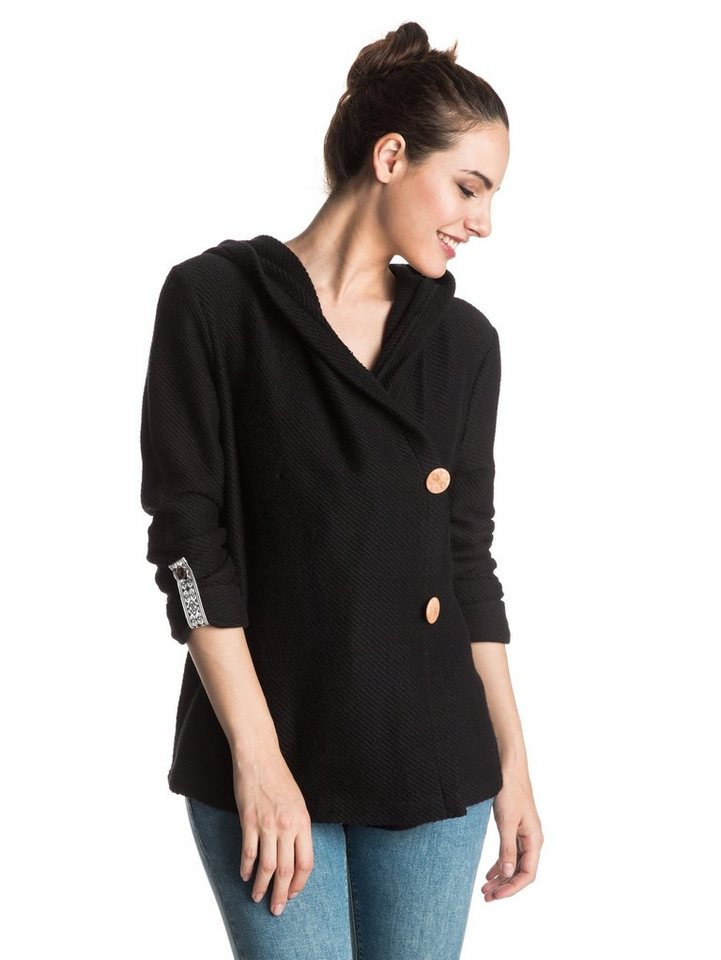 Roxy Terry-Cardigan »Knot A Care« in Anthracite