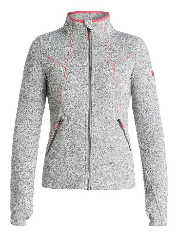 Roxy Zip-Up Funktions-Sweatshirt »Crystal« in Wild dove
