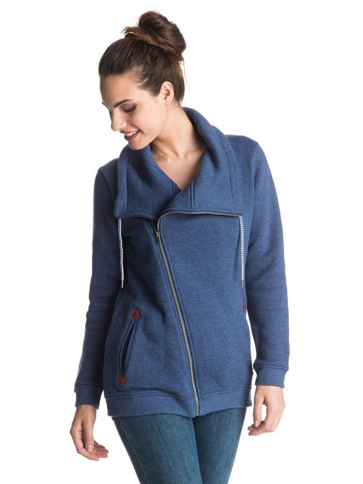 Roxy French Terry Jacke »Good Waves« in Blue print