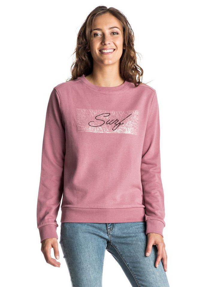 Roxy Sweatshirt »Just Pick On« in Mesa rose
