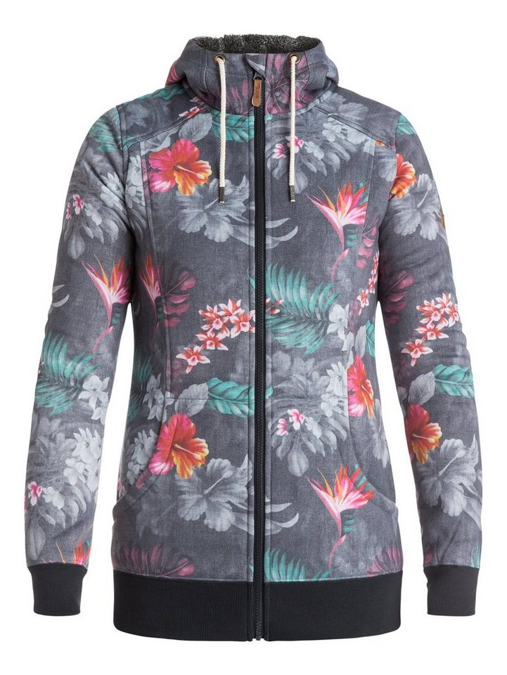 Roxy Funktioneller Zip-Up Hoodie »Frost Printed« in paradise pink
