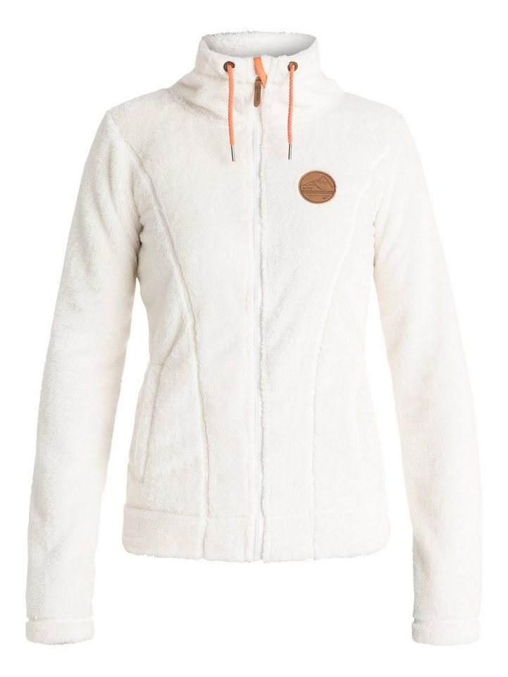 Roxy Plüsch-Fleece-Jacke »Eskimo« in Egret