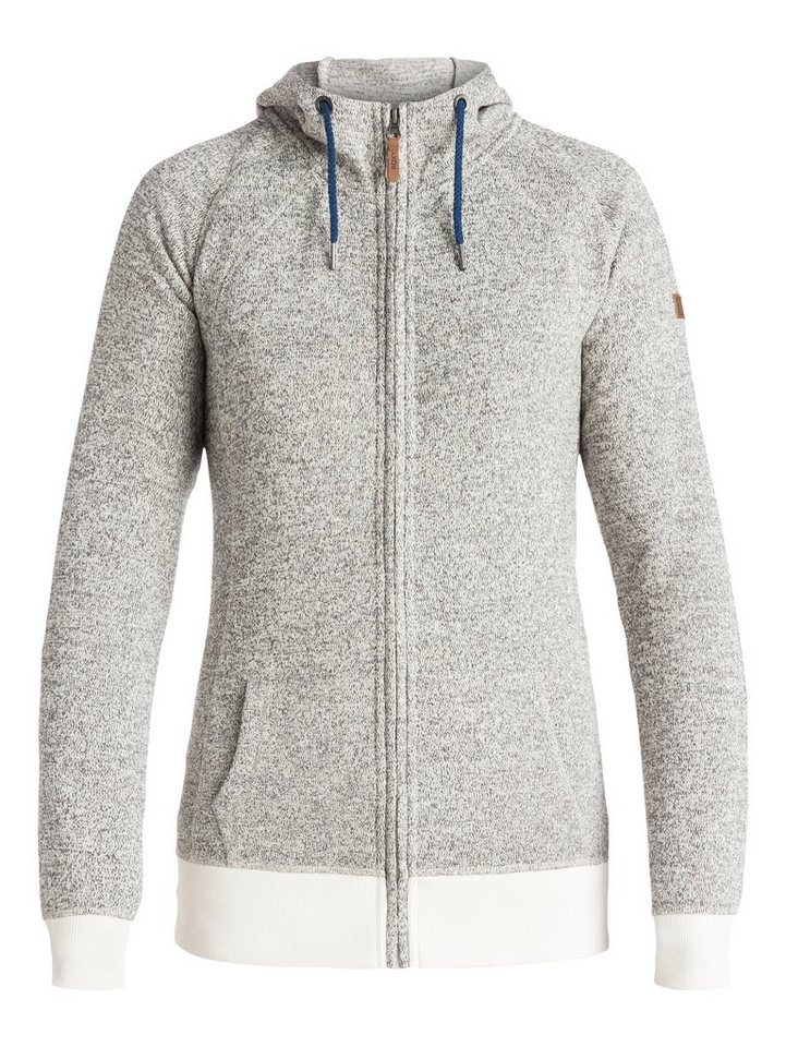 Roxy Funktioneller Zip-Up Hoodie »Resin Knit« in Egret
