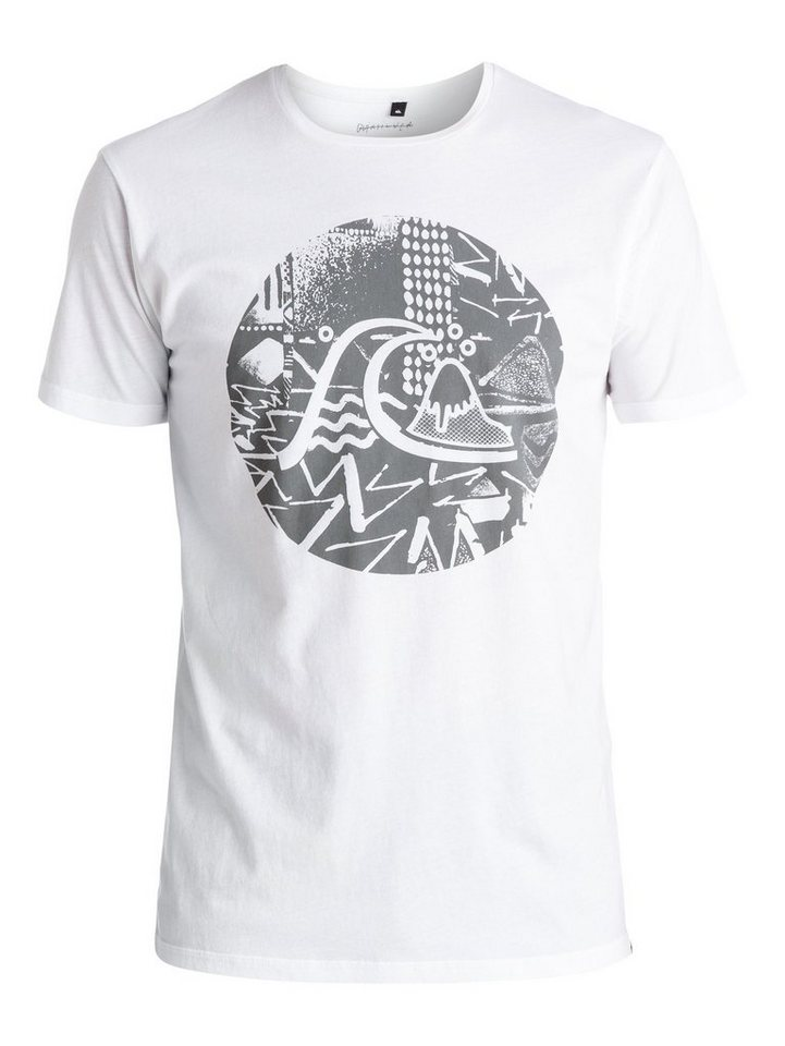 Quiksilver T-Shirt »Labyrinth Logo« in bright white