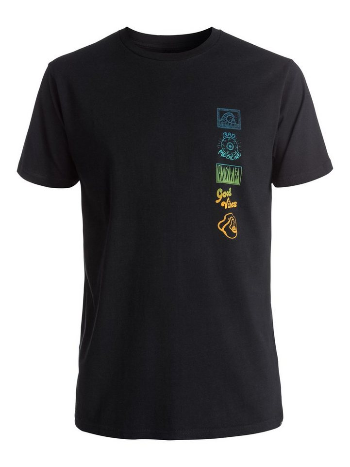 Quiksilver T-Shirt »AM Side Track« in anthracite