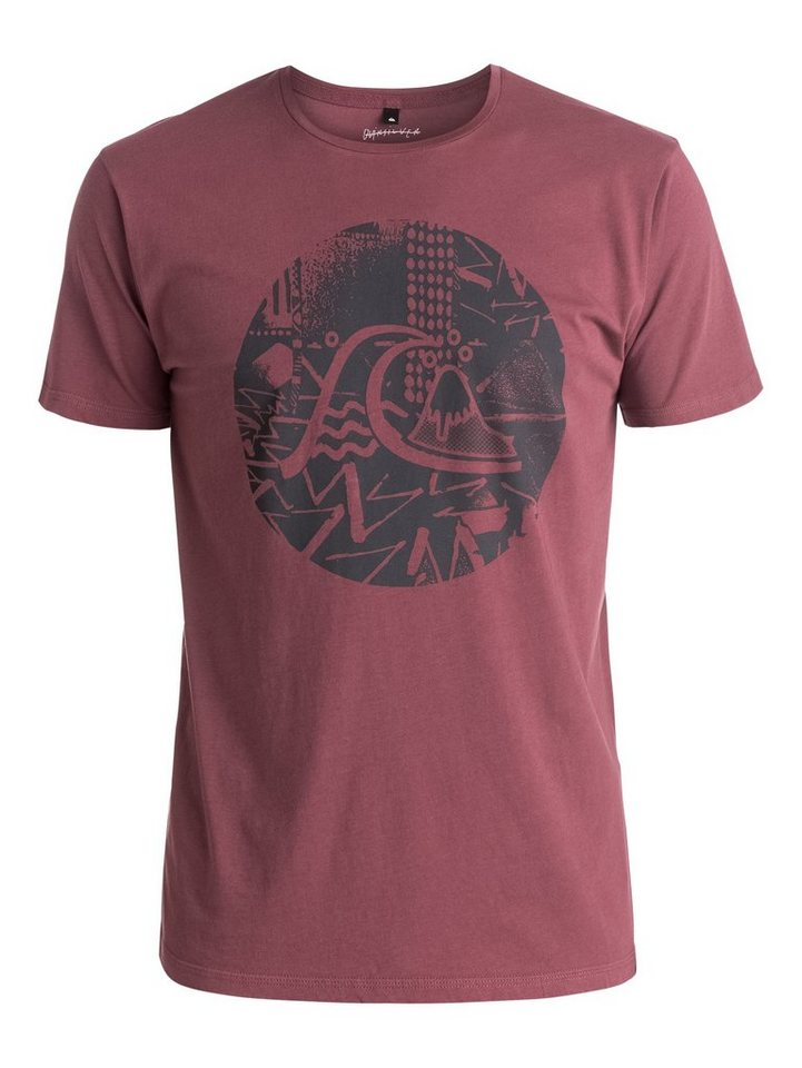 Quiksilver T-Shirt »Labyrinth Logo« in wild ginger