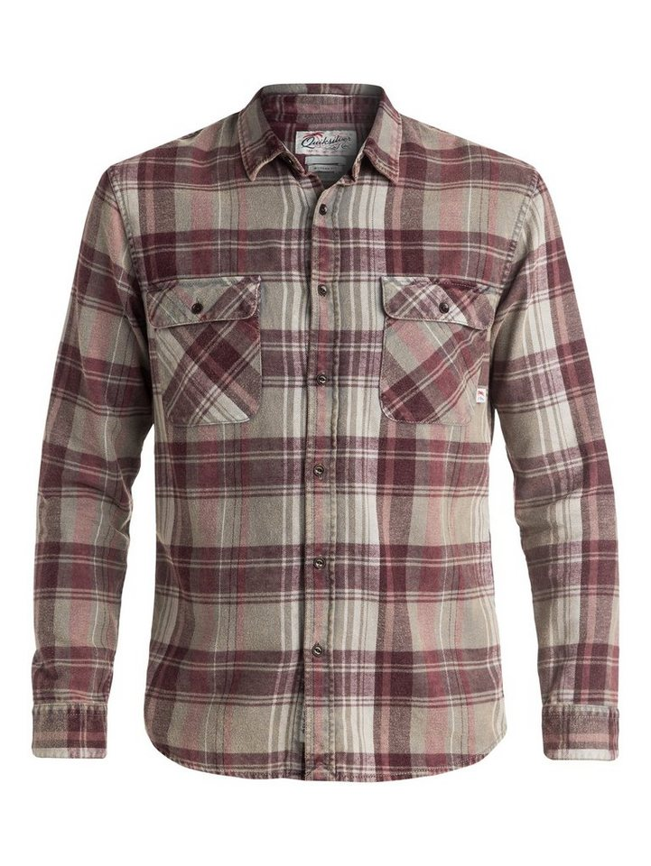Quiksilver Langarm-Hemd »Happy Flannel« in Wild ginger