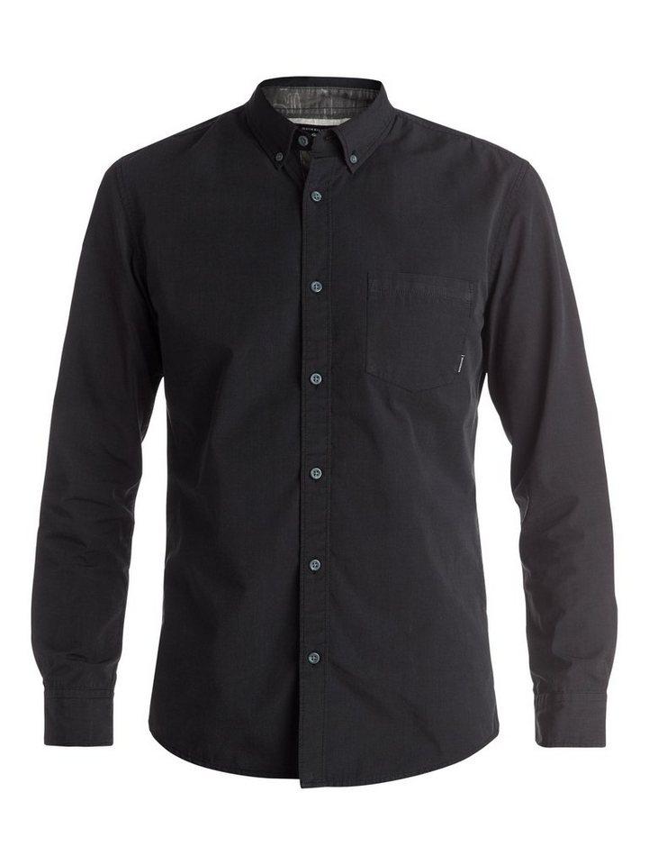 Quiksilver Langarm-Hemd »Allover Wilsden« in Nightshadow blue