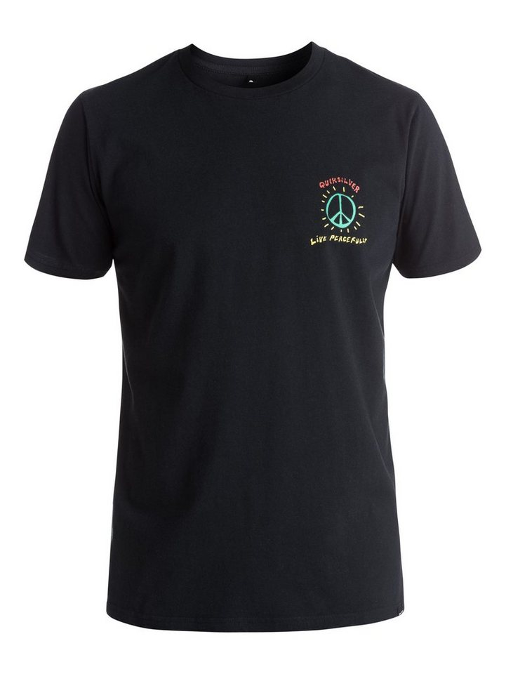 Quiksilver T-Shirt »Live Peacefully« in anthracite