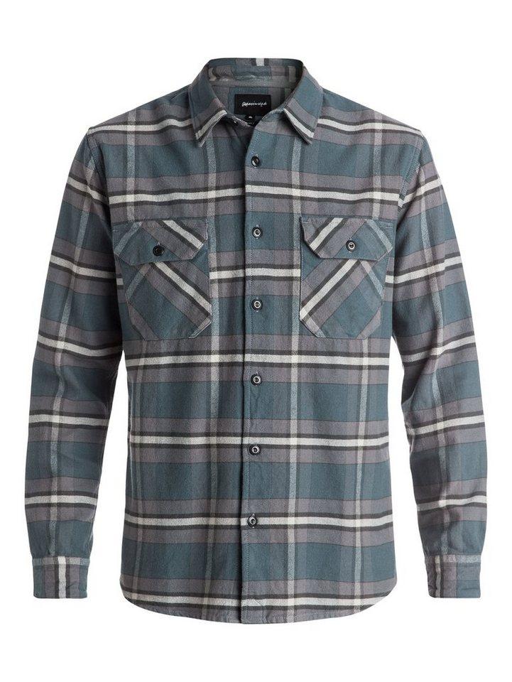 Quiksilver Langarm-Hemd »Major Counter Flannel« in Dark shadow