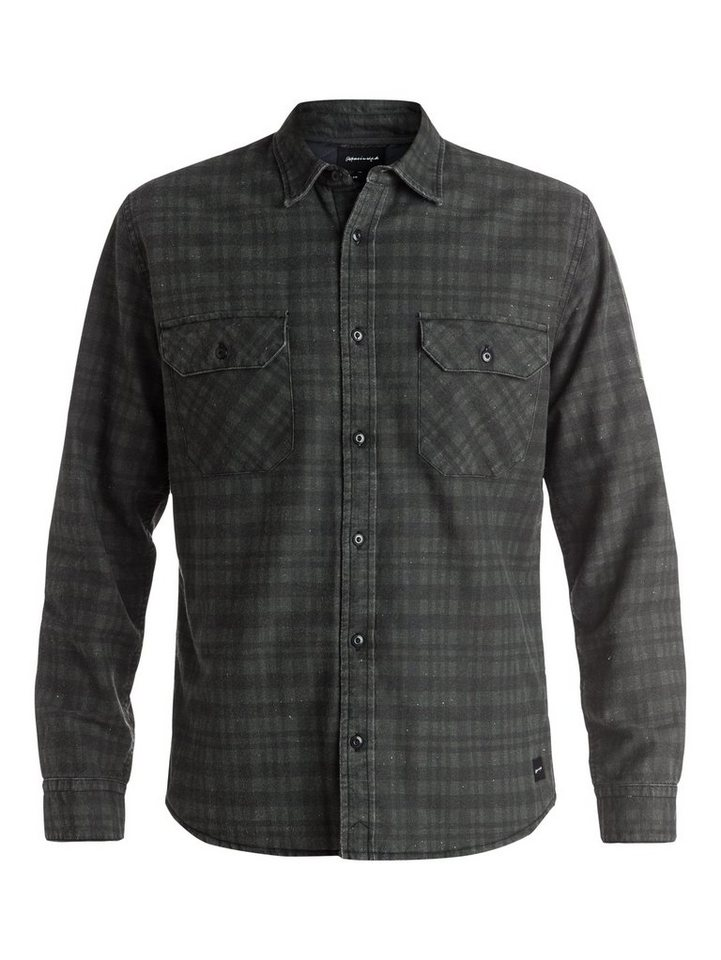 Quiksilver Langarm-Oberhemd »Young Winner Flannel« in dark shadow