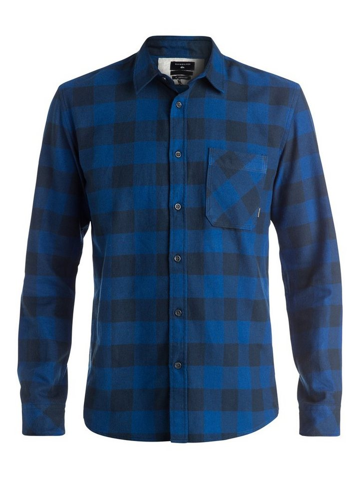 Quiksilver Langarm-Hemd »Motherfly Flannel« in navy blazer
