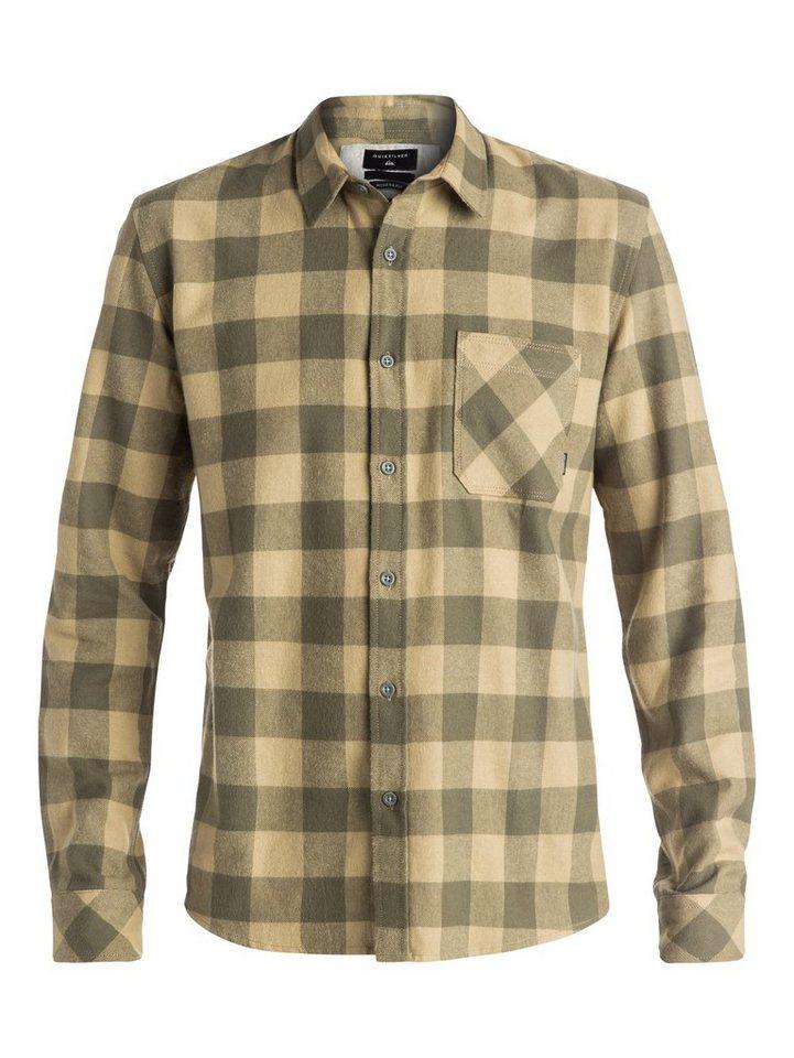 Quiksilver Langarm-Hemd »Motherfly Flannel« in dusty olive