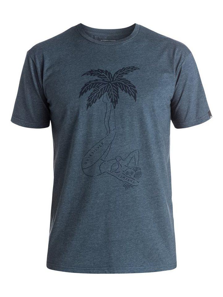 Quiksilver T-Shirt »Heather Wet Palms« in Dark denim