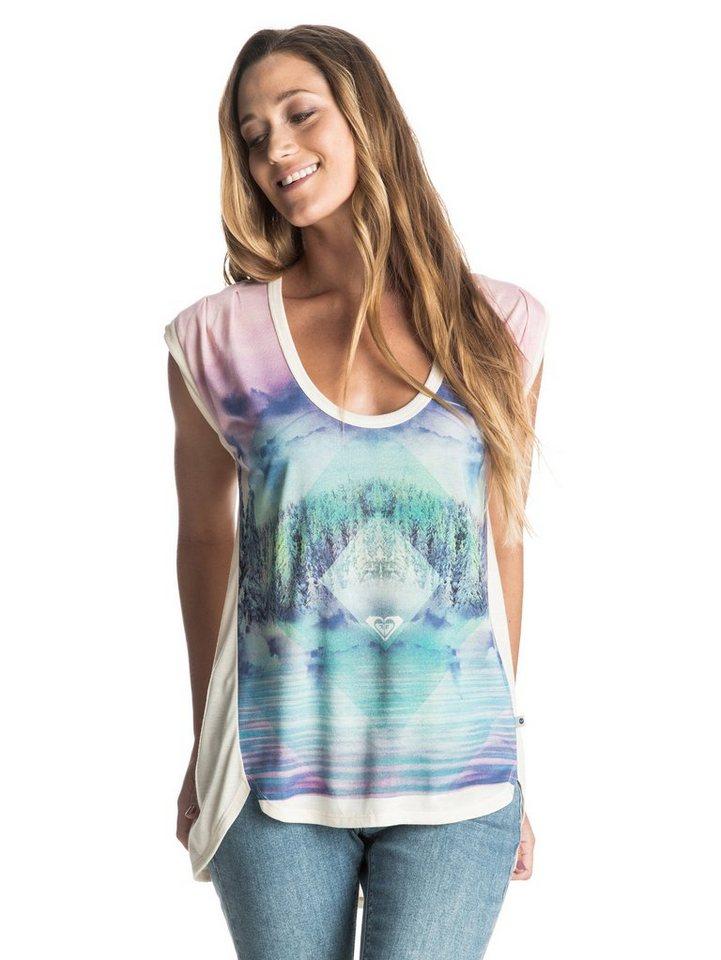 Roxy T-Shirt »Crazy Barrel Mountain High« in Angora