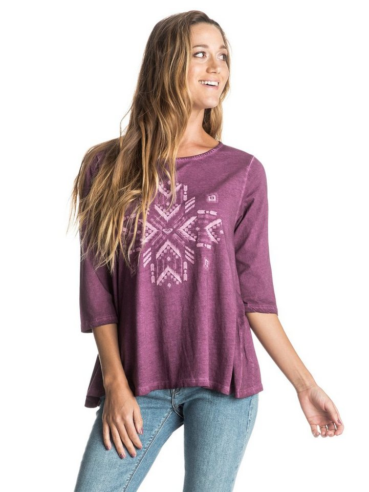 Roxy 3/4 Arm Top »Waikiki Break Center Of Earth« in italian plum