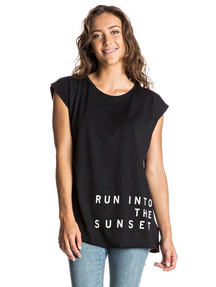 Roxy T-Shirt mit gekrempelten Ärmeln »Take California C« in Anthracite
